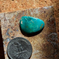 Deep teal-green color on this natural Nevada turquoise cabochon