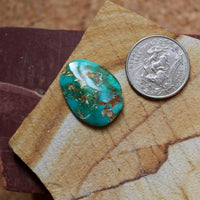 19 carat blue Stone Mountain Turquoise cabochon with red matrix - Nevada Cassidys