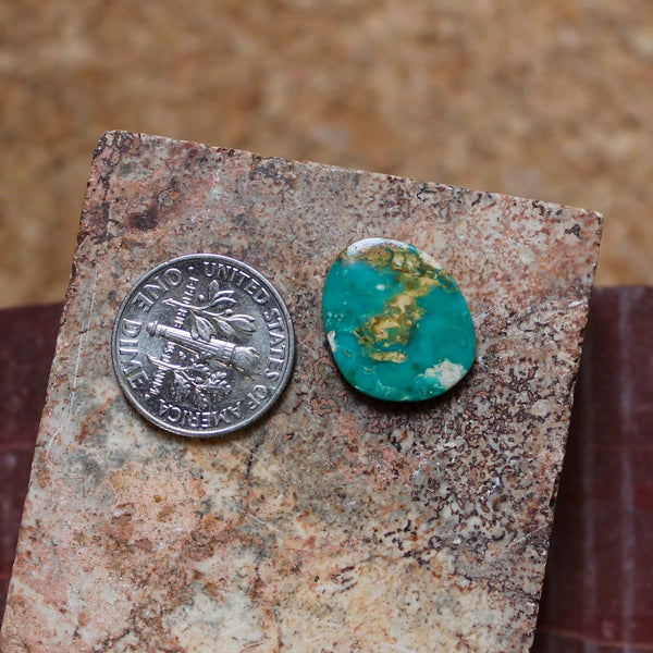 5.0 carat green Stone Mountain Turquoise flat-top cabochon