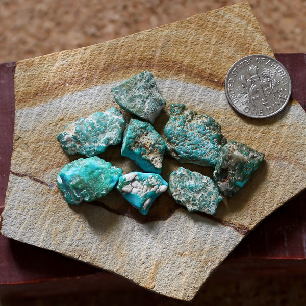 8.6 grams color change Stone Mountain Turquoise nuggets