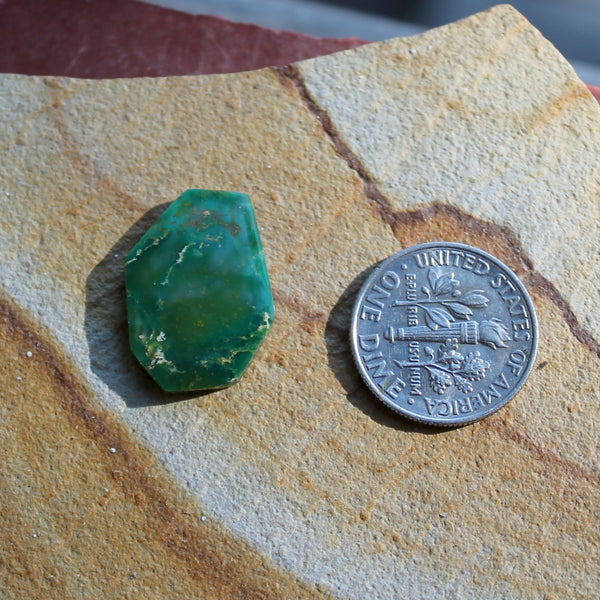 7.5 carat angular cut green Stone Mountain Turquoise cabochon