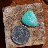 Blue with depth on this natural Nevada turquoise cabochon