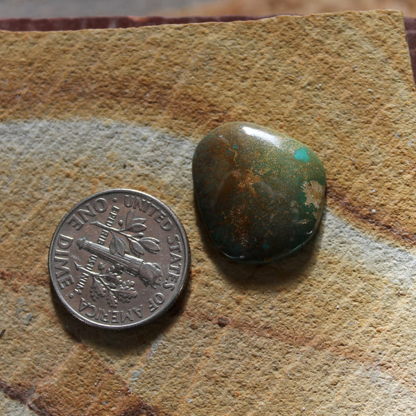8.2 carat teal blue Taubert Hills turquoise cabochon