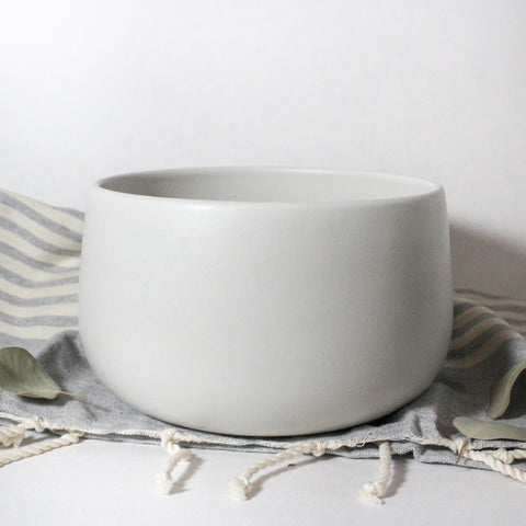 Matte White Serving Bowl