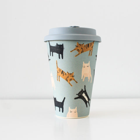 Reusable Bamboo Fibre Travel Mug | Les Chats