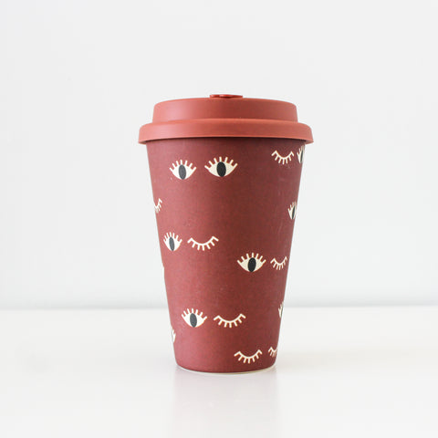 Reusable Bamboo Fibre Travel Mug | Wink Wink