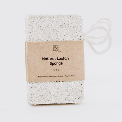 Natural Loofah Sponge | Set of 3