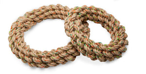 Braided Ring Hemp Rope Toy