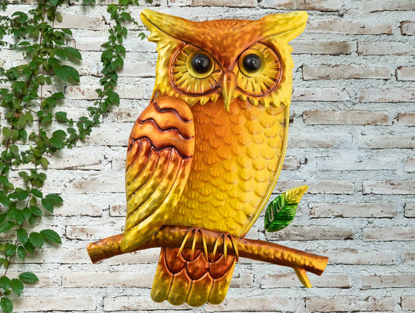Owl Glass Wall Art