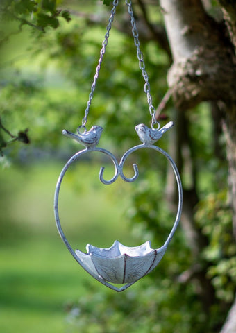 Hanging Heart Bird Feeder / Bath