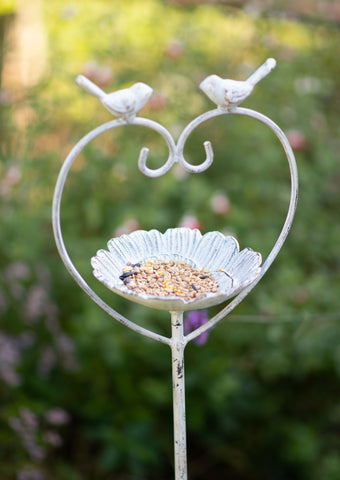 Heart Bird Feeder Stake