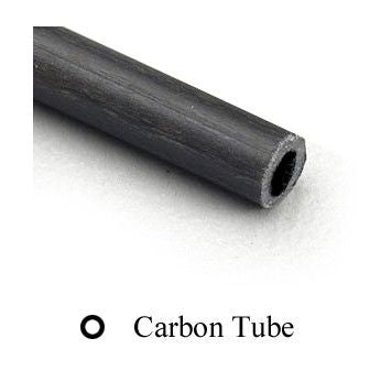 MIDWEST CARBON FIBRE TUBE 1.8 X 3 X 610mm