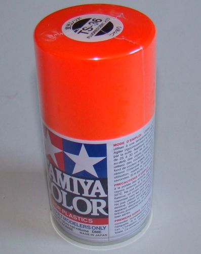 TAMIYA COLOUR SPRAY FLUORESCENT RED 100ml