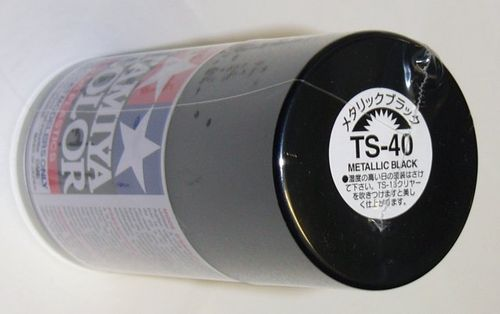 TAMIYA COLOUR SPRAY METALLIC BLACK 100ml
