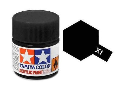 TAMIYA ACRYLIC GLOSS BLACK 10ml