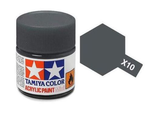TAMIYA ACRYLIC GLOSS GUN METAL 10ml
