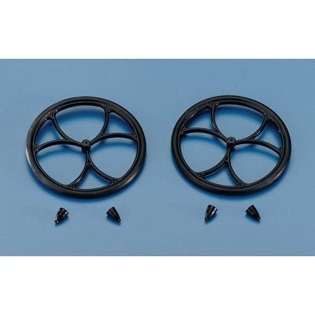 DUBRO MICRO LITE WHEELS WITH RETAINERS (2)