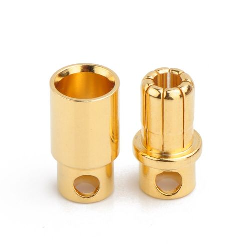 ROUND GOLD CONNECTOR M&F 8mm (6)