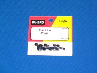 DU-BRO FUEL LINE PLUGS 2 SMALL, 2 LARGE