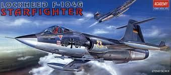 ACADEMY F-104G STARFIGHTER 1/72 SCALE
