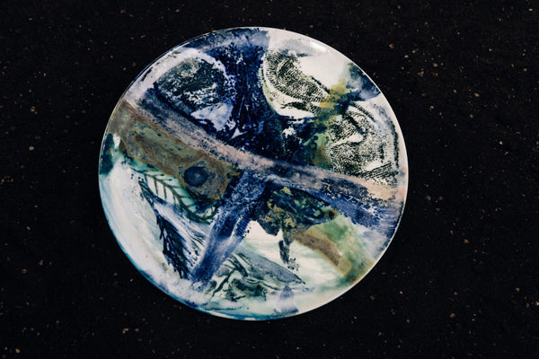 Painting on a Plate - Sea Serpent