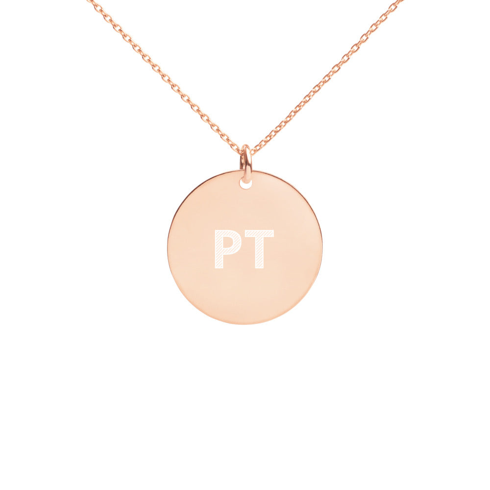PT Engraved Disc Necklace