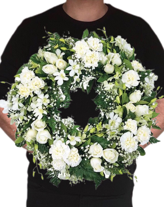 White and Green 55cm | McQueen's Florist Adelaide | Florist Delivery Adelaide