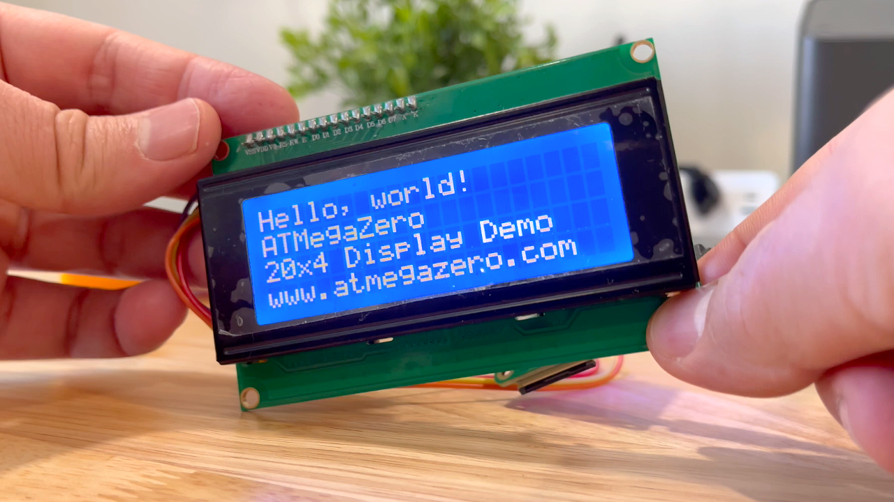 How to use the 20x4 LiquidCrystal Display with the ATMegaZero Microcontroller Board