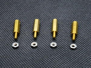 15mm M2.5 Male to Female Hex Brass Spacer Standoff