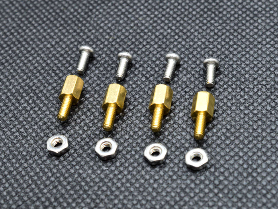 6mm M2.5 Male to Female Hex Brass Spacer Standoff