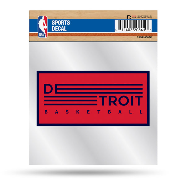 Detroit Pistons 4x4 Detroit Basketball Decal