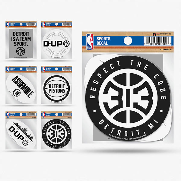 Pistons 6 Pack Stickers