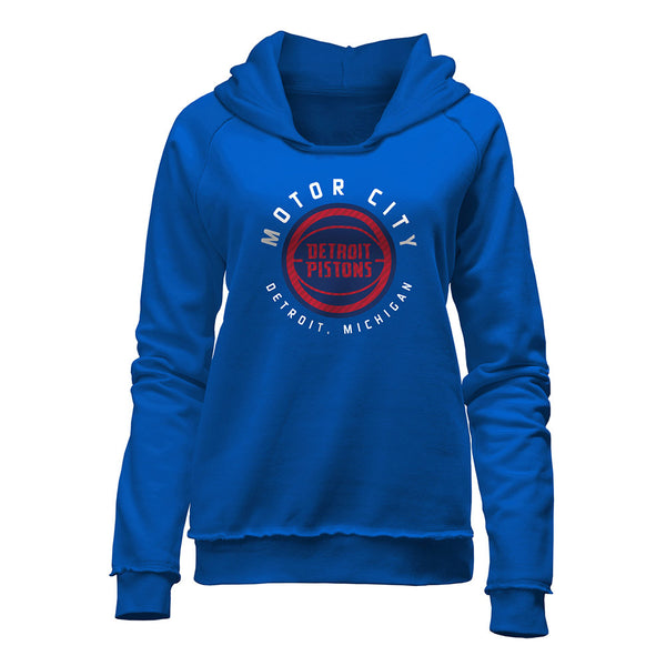 Ladies New Era Pistons City Edition Hooded Sweatshirt