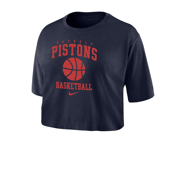 Ladies Nike Pistons Dri-Fit Crop Top