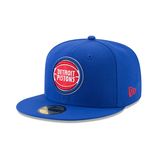 New Era Detroit Pistons Blue Fitted 59FIFTY Hat
