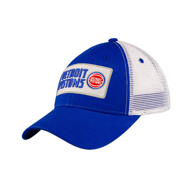 Detroit Pistons Felt Patch Trucker Adjustable Hat