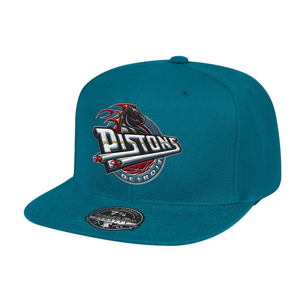 Mitchell & Ness Pistons Teal Fitted Hat