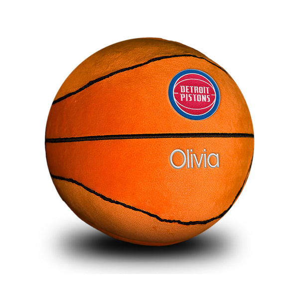 Detroit Pistons Personalized Basketball Plush Toy