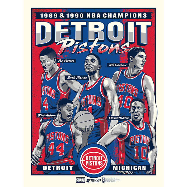 Detroit Pistons Unframed Bad Boys Poster