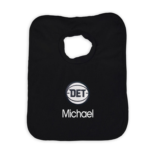 Detroit Pistons Personalized Black DET Bib