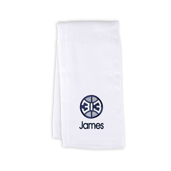 Detroit Pistons 313 Personalized White Burp Towel