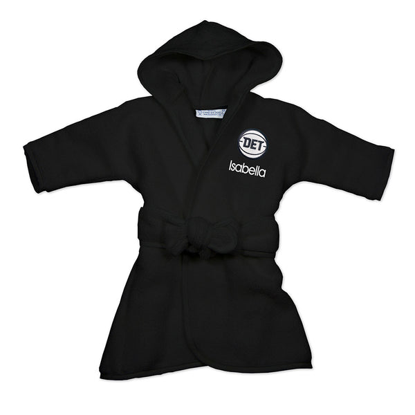 Detroit Pistons Black Personalized DET Infant Robe