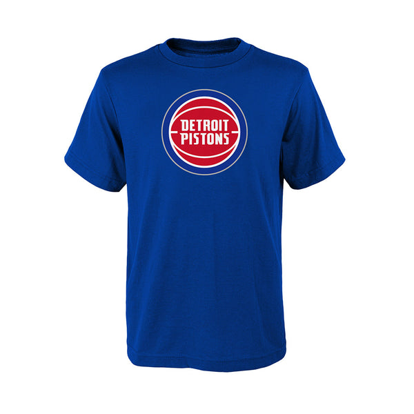 Youth Outerstuff Pistons Primary Logo T-Shirt