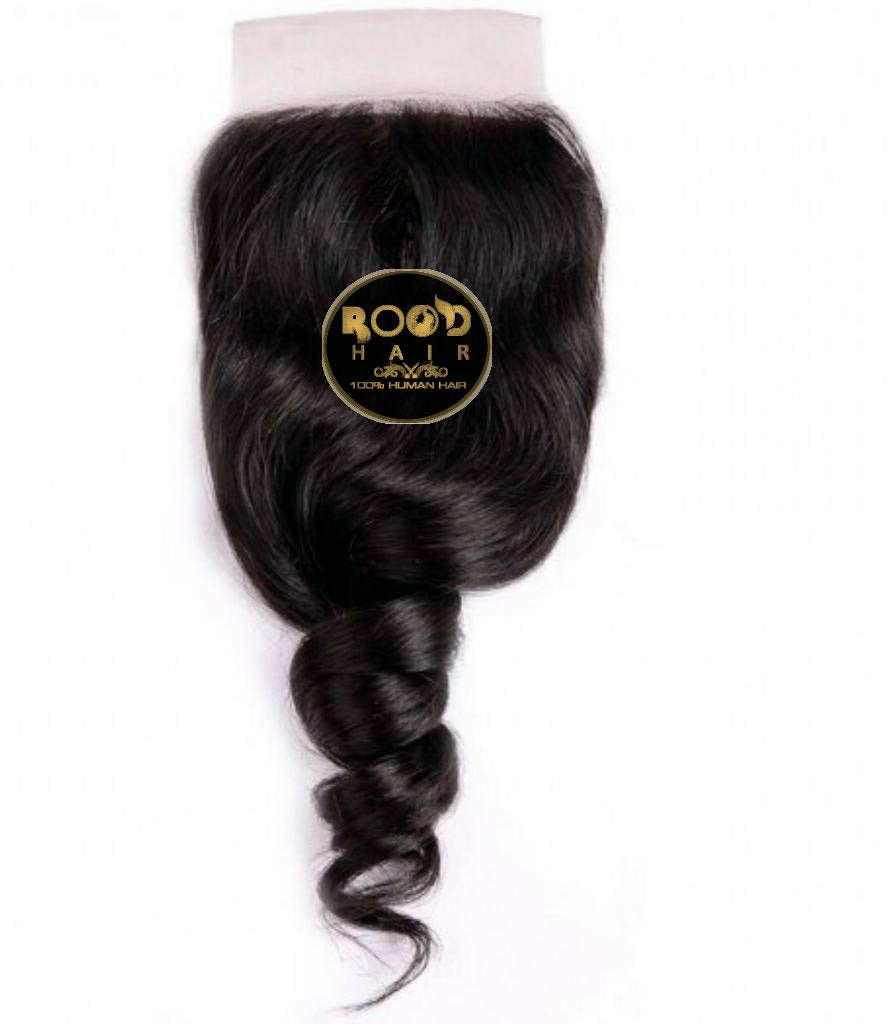 Brazilian loose wave 4*4 lace closure