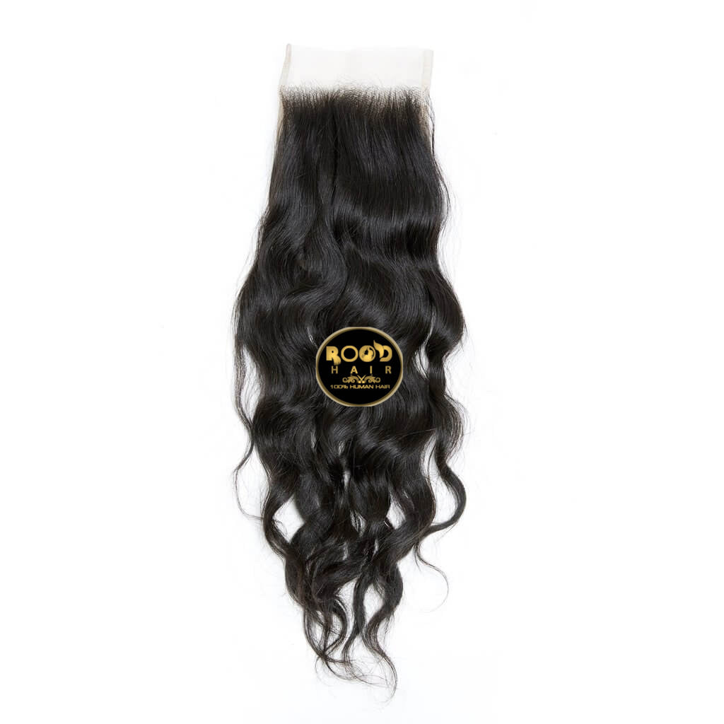 4x4 Raw Indian wavy hair Lace closure