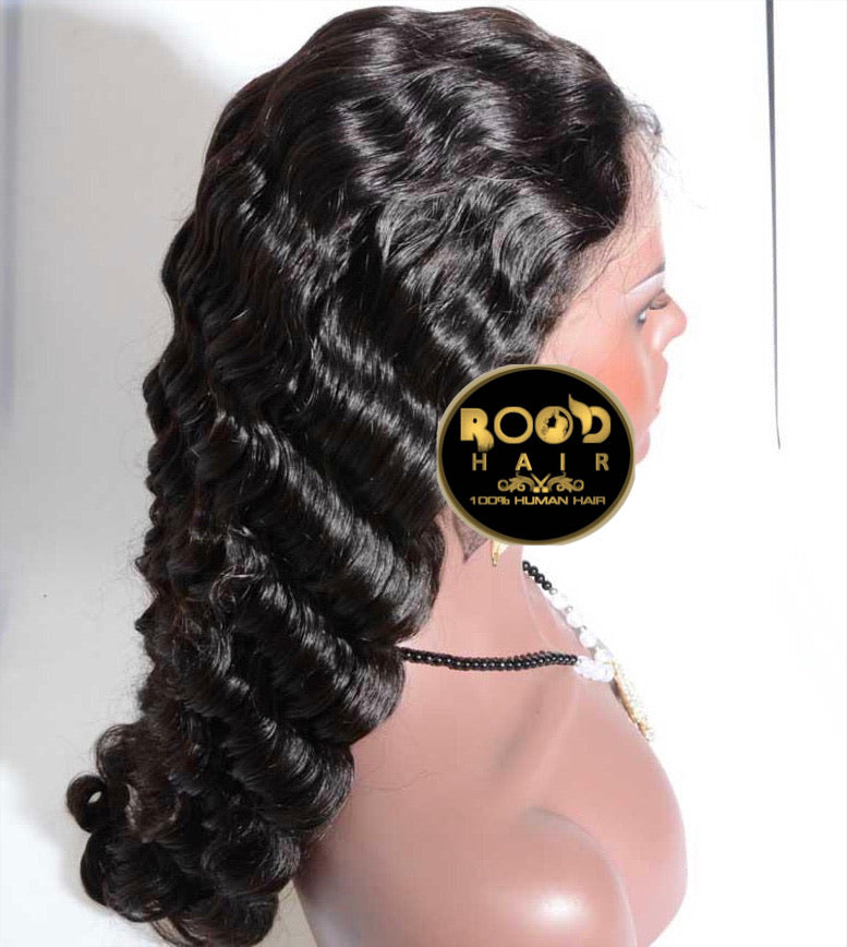 13x4 Deep wave Brazilian lace front wig