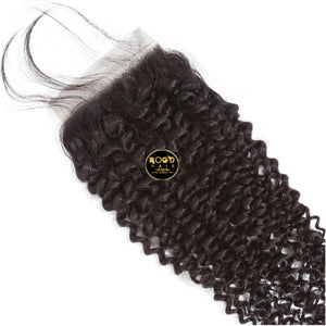4*4 Kinky curly lace closure