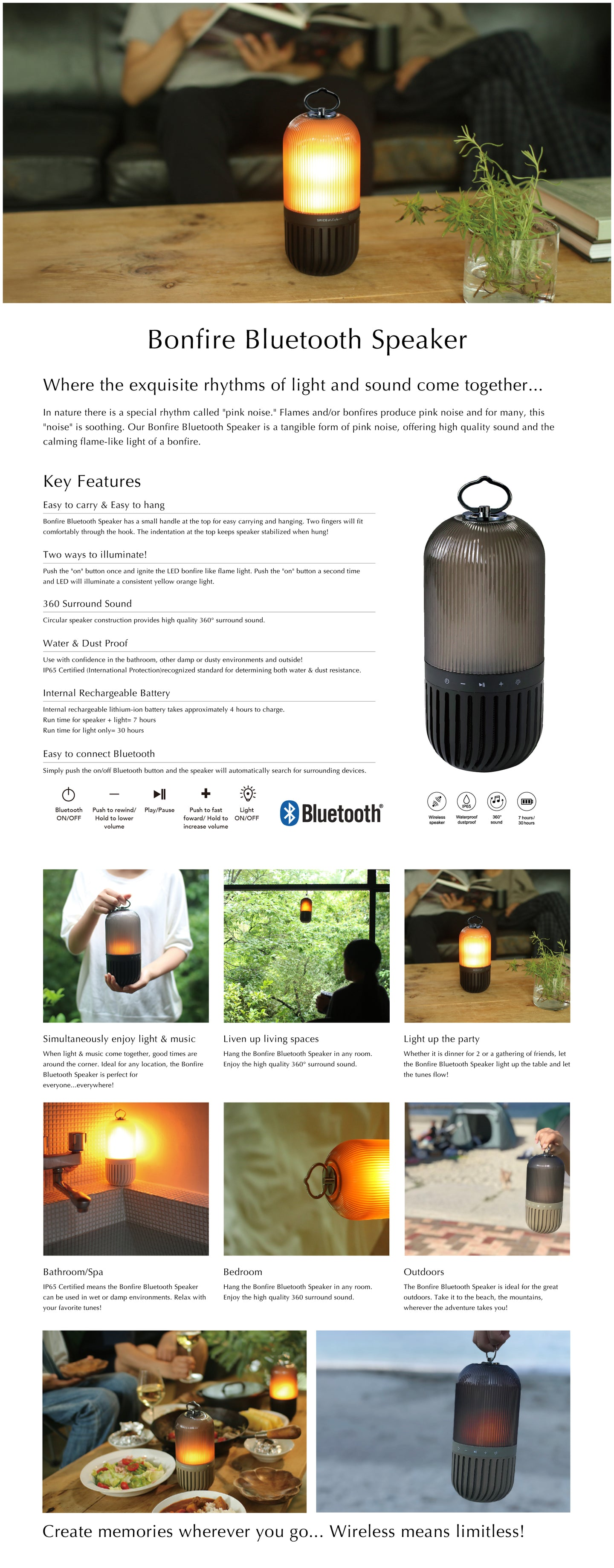 Bonfire Bluetooth Capsule Speaker