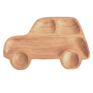 Kids Wooden Plate - Car