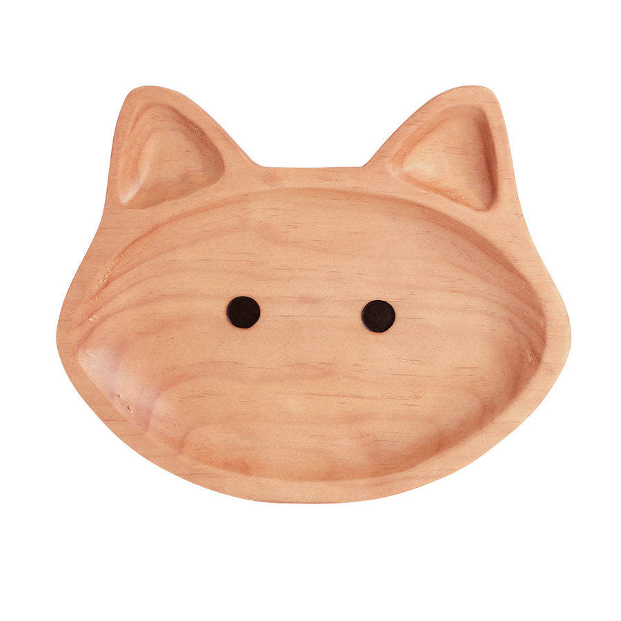 Kids Wooden Plate - Cat